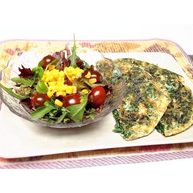 Hoy, tortilla de espinacas, que necesito  energía... 😉 #foodporn #healthyfood #healthylife #yotrasmilongas
