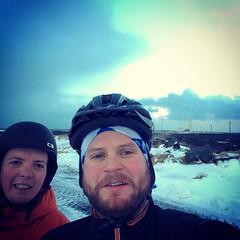 Þessir voru ferskir í morgun #menicycle #menigaga #2fílarlögðuafstaðíleiðangur