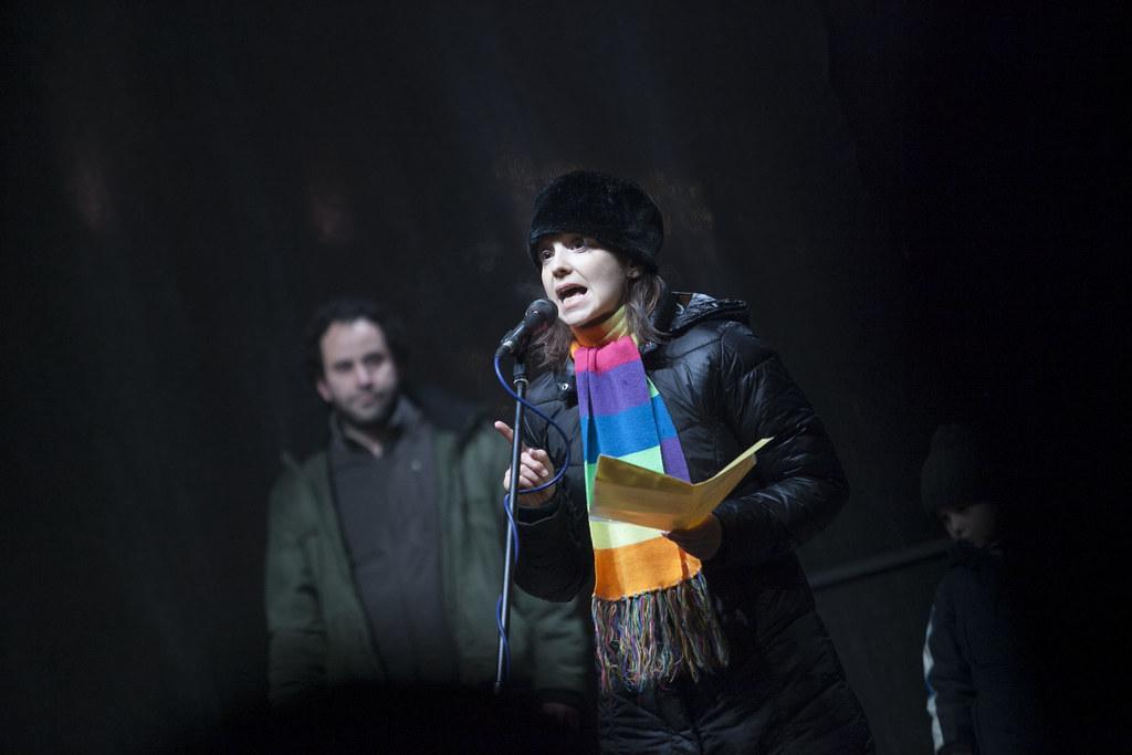 Tüntetés az Operaháznál
