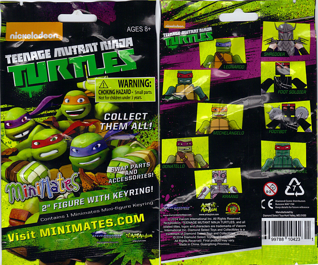 Nickelodeon  TEENAGE MUTANT NINJA TURTLES ; MINIMATES :: ..blind bag  (( 2014 )) by tOkKa