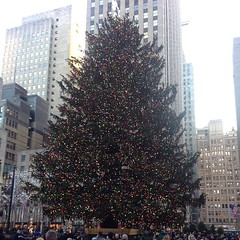 Christmas Tree NYC Rockefeller Plaza. @lacoquillita @parkeastmusic @djalmoney