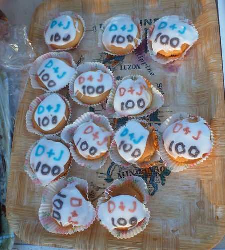 Cakes for Donald & Joy Bell's 100th runs