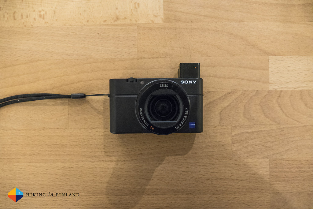Sony RX100III with EVF open