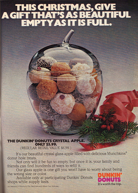 """DUNKIN' DONUTS :: """" .. - THE DUNKIN' DONUTS CRYSTAL APPLE. .. """" (( 1980 ))"""