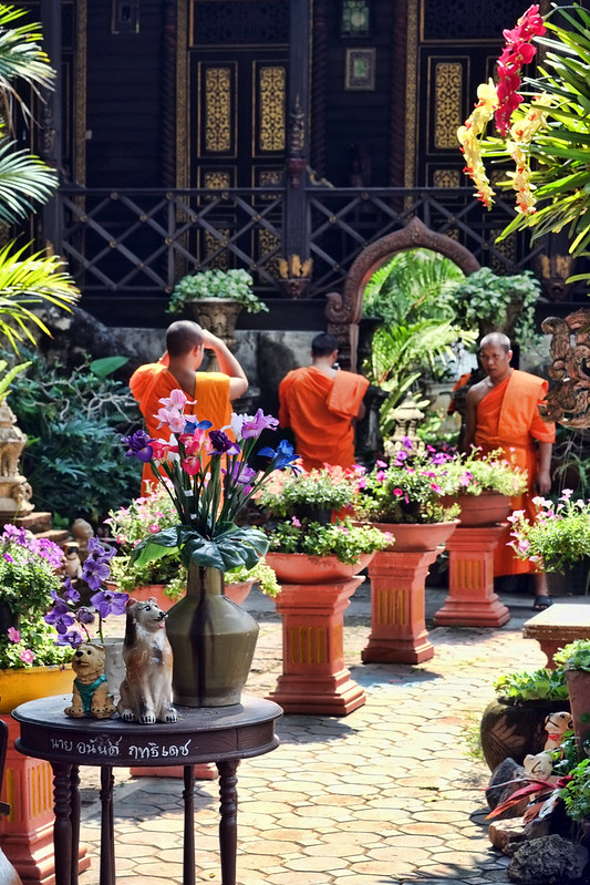 Monks at Wat Ket Karam