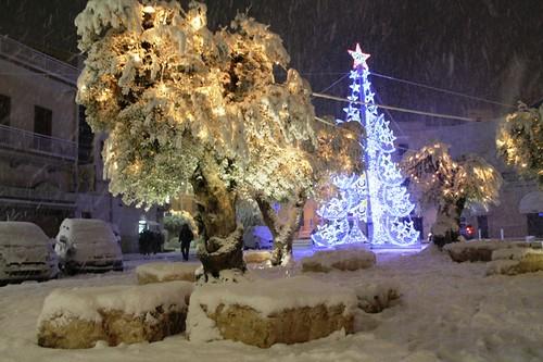 Nevicata del 31 dicembre 2014 a Polignano a Mare