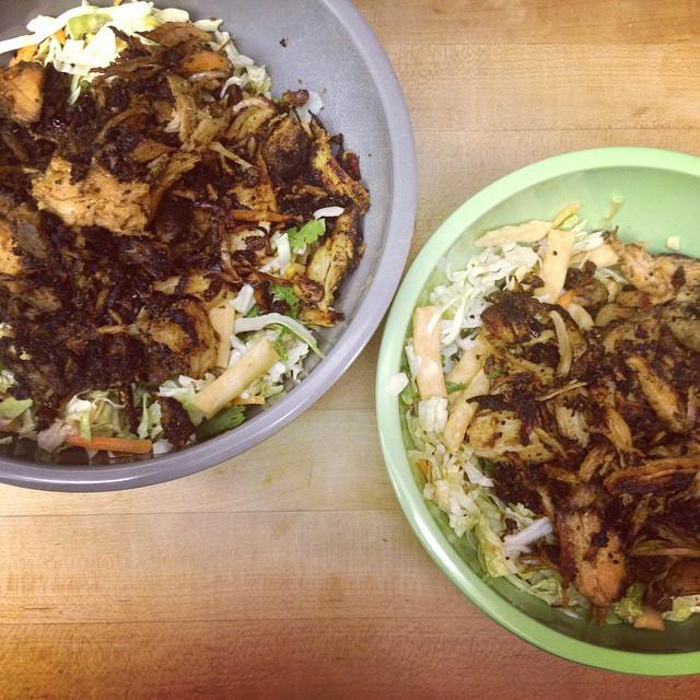 Asian Pork Salads #yum #leftovers #hollydoesdinner