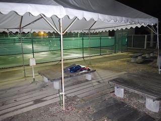 伏見港公園_テニスコート横