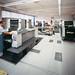 San Patrignano. Grafiche. Panoramica struttura. Ragazzi comunità al lavoro su macchine da stampa.
