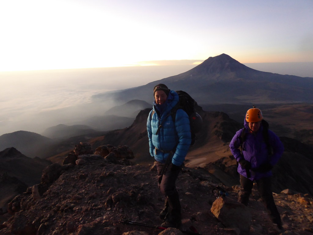 Hitting 5,000m on Itzaccihuatl at dawn