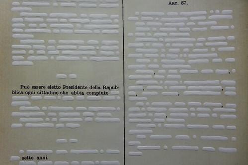 Costituzione italiana di Emilio Isgrò