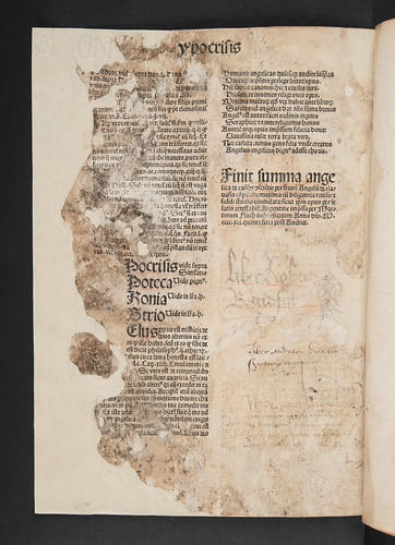 Colophon and ownership inscriptions in Angelus de Clavasio: Summa angelica de casibus conscientiae