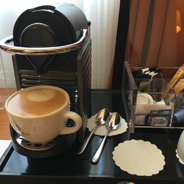 Espresso machine in our room