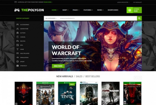 The Polygon v1.0.4 - The Ultimate Wordpress Theme For Digital Goods And Pro Gamers
