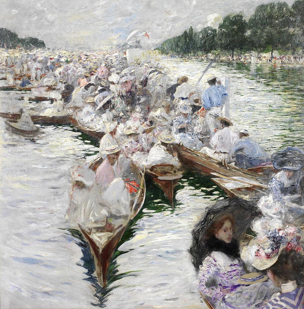Henley Regatta by Friedrich Stahl 1899