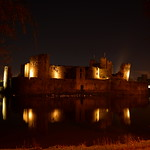 Caerphilly Castle by night...