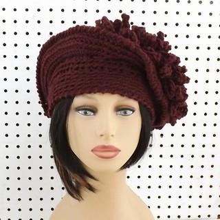 The Linda hat in aubergine #etsy