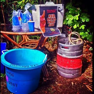 R&B's Red Devil Pale Ale.  Labour day.  Vancouver, Canada.