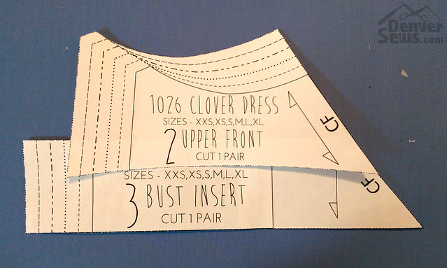 Papercut Clover Dress - Front piece mismatch