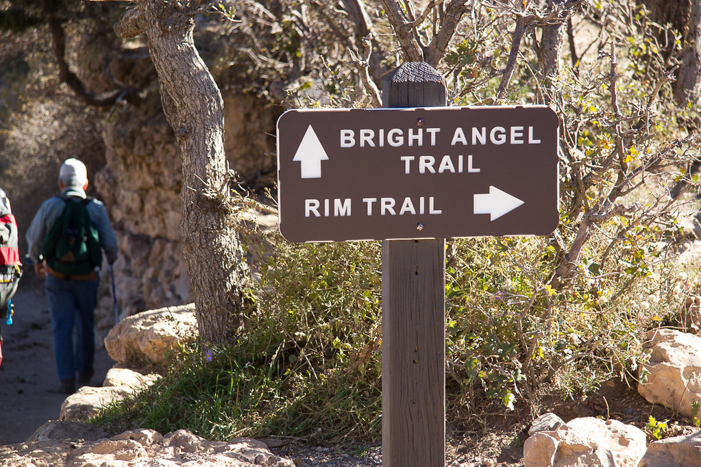 Bright Angel Trail sign