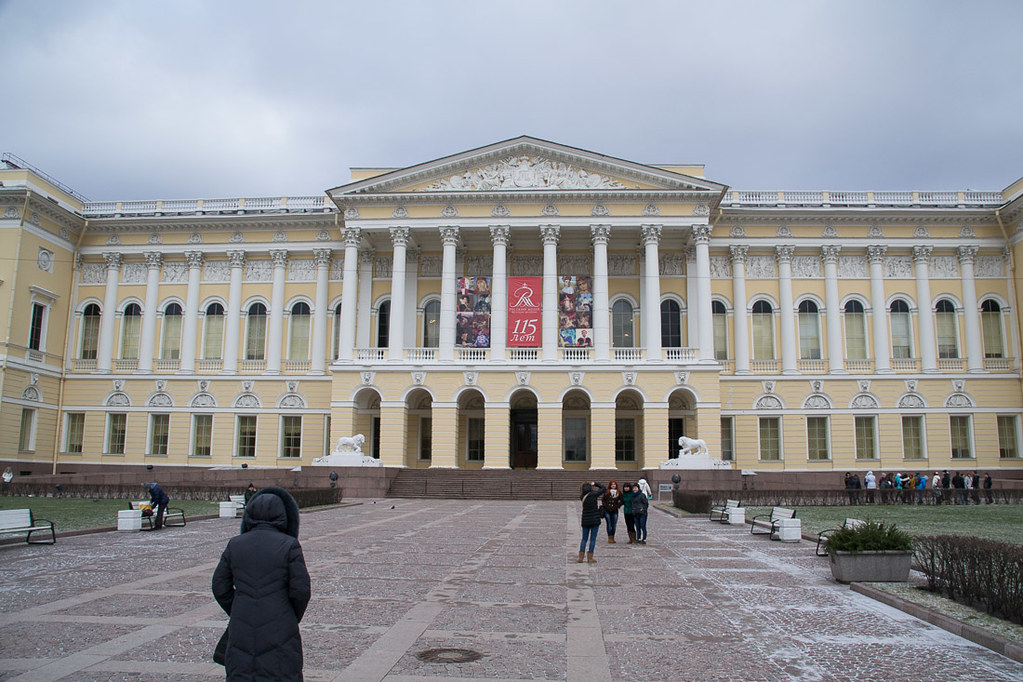 Outside the Russian State Museum in St. Petersburg
