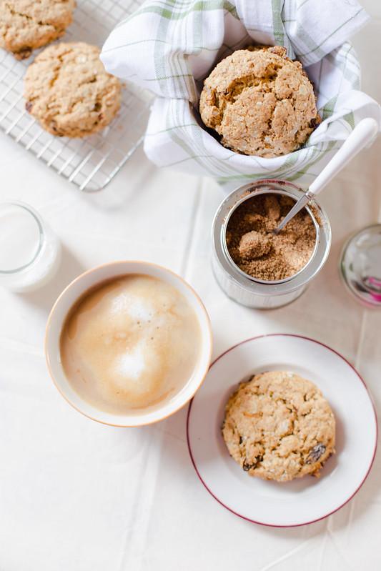 Lemon and Raisin Oat Scones | Elsa Brobbey