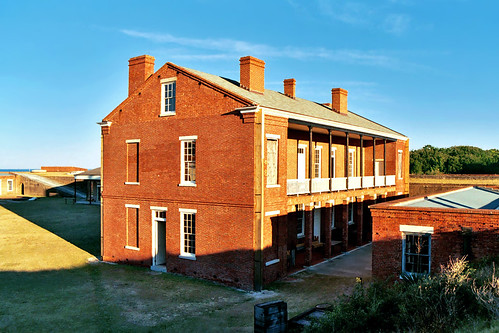 brick unitedstates florida fort barracks fernandinabeach clearsky fortclinchstatepark