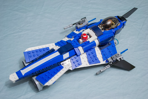 Anakin's Custom Jedi Starfighter, top 3/4ths