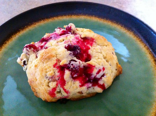 Lemon, cranberry, pecan scones!
