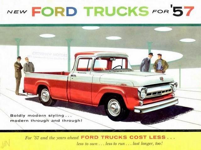 1957 Ford Trucks vintage advertising.