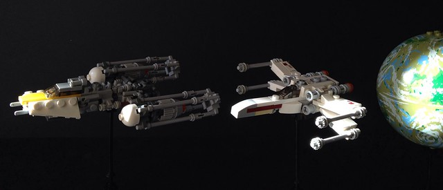 X-wing and Y-wing Redux, by Miro Dudas, on Flickr