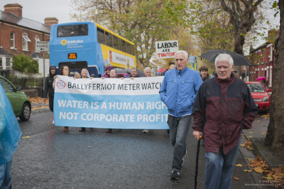 Dublin water protest banner