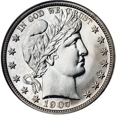 Barber-5400-1907 Proof $00.50 o
