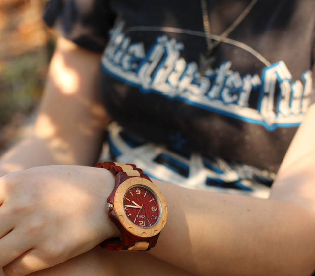 JORD Wood Watch and a Vintage T-shirt