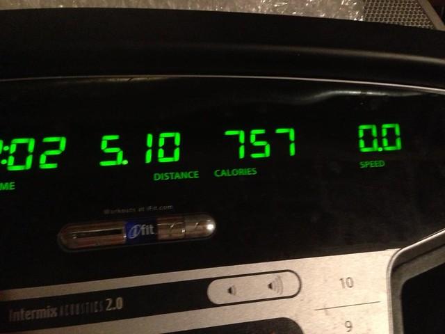 Winter treadmill 5 miles