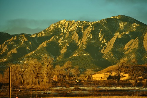 morning mountains sunrise dawn colorado boulder flatiorns