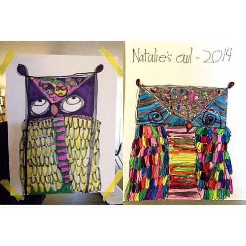 Big girls' finished owls. #weekinthelife