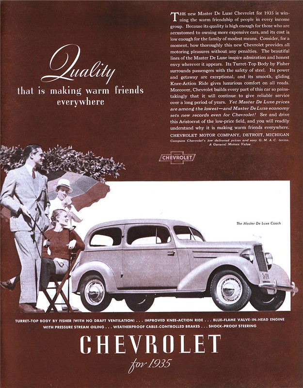 1935 Chevrolet Master De Luxe Coach - published in Collier's - July 20, 1935