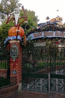 Haunted Mansion dressed for the holidays