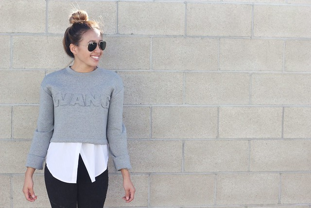 lucky magazine contributor,fashion blogger,lovefashionlivelife,joann doan,style blogger,stylist,what i wore,my style,fashion diaries,outfit,hm x alexander wang,hm,alexander wang,crop top,scuba top,trendy blendy,shop prima donna,ray ban,fall fashion,street style