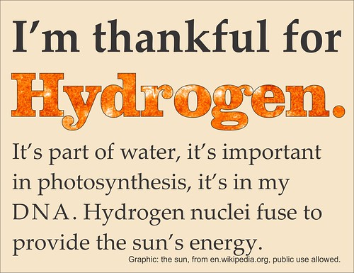 Thankful for Hydrogen
