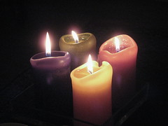 candle, light, darkness, flame, lighting,