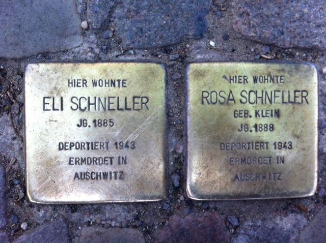 Photo of Eli Schneller brass plaque