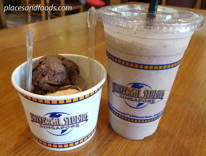universal studio singapore ice cream and milkshake