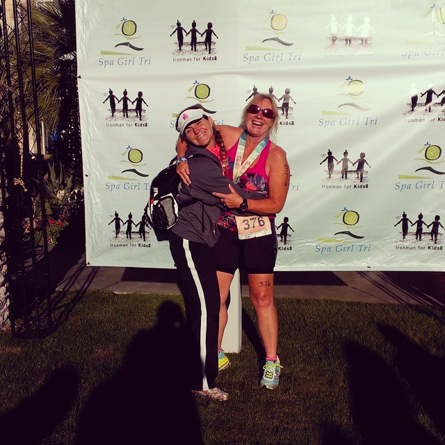She did it!!! #proudcoach #prouddaughter #triouradventure #spagirltri