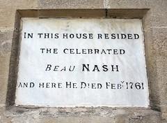 Photo of Beau Nash white plaque