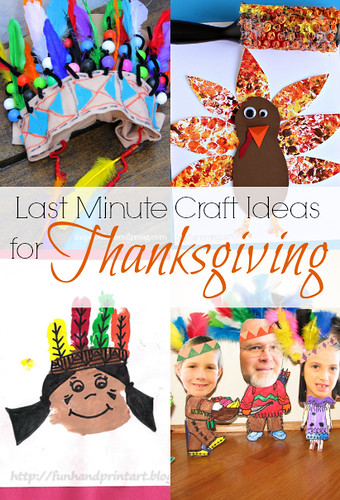 last minute craft ideas for thanksgiving