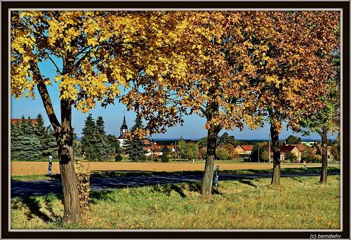 Herbst in Sachsen / Blick auf Ebersbach