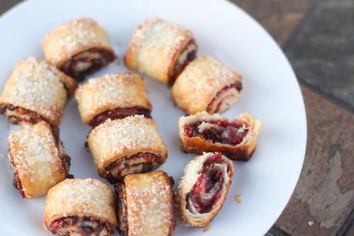 Raspberry, Pistachio & Dark Chocolate Rugelach