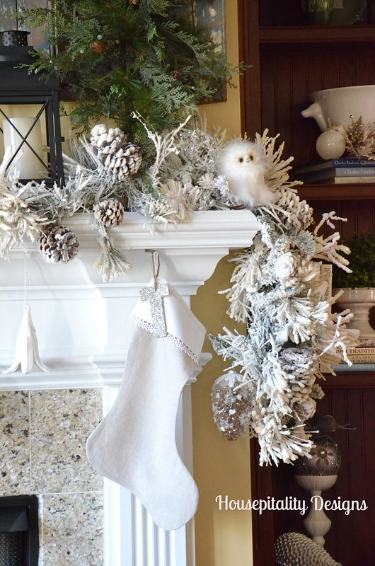 Great Room Mantel Christmas 2014-Housepitality Designs
